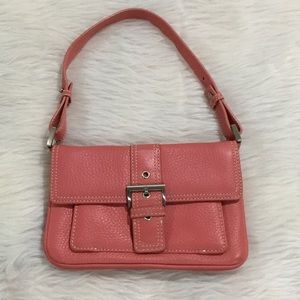 Talbots pink leather mini leather purse